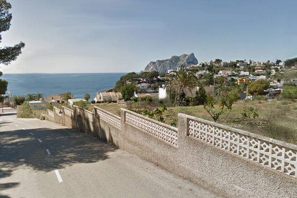 Impressive plot with sea views and hotelprojet on 9.532 m²   Benissa